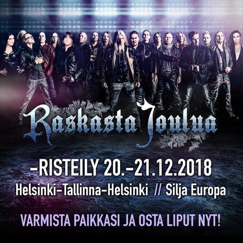 raskasta joulua 2018 helsinki esiintyjät Valtavaan suosioon noussut Raskasta joulua  kiertue huipentuu tänä  raskasta joulua 2018 helsinki esiintyjät